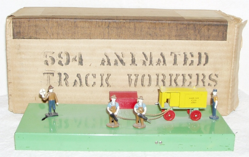American Flyer Animated Track Workers 594