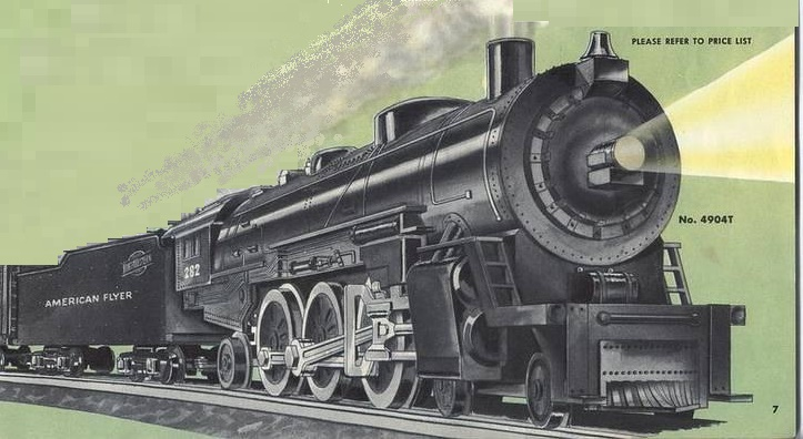 American Flyer Locomotive 282 Chicago North Western Catalog Image