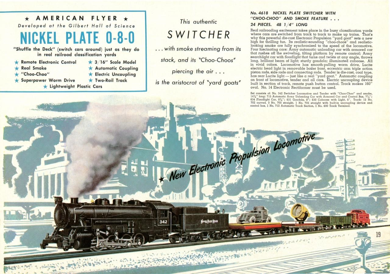 American Flyer No. 4618 Nickle Plate Switcher