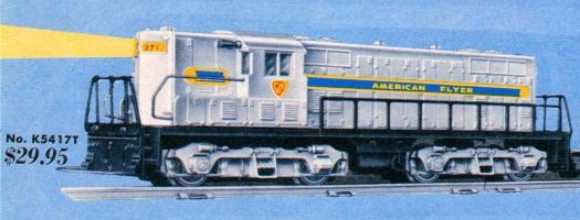 American Flyer Diesel Switcher 371 Catalog Image