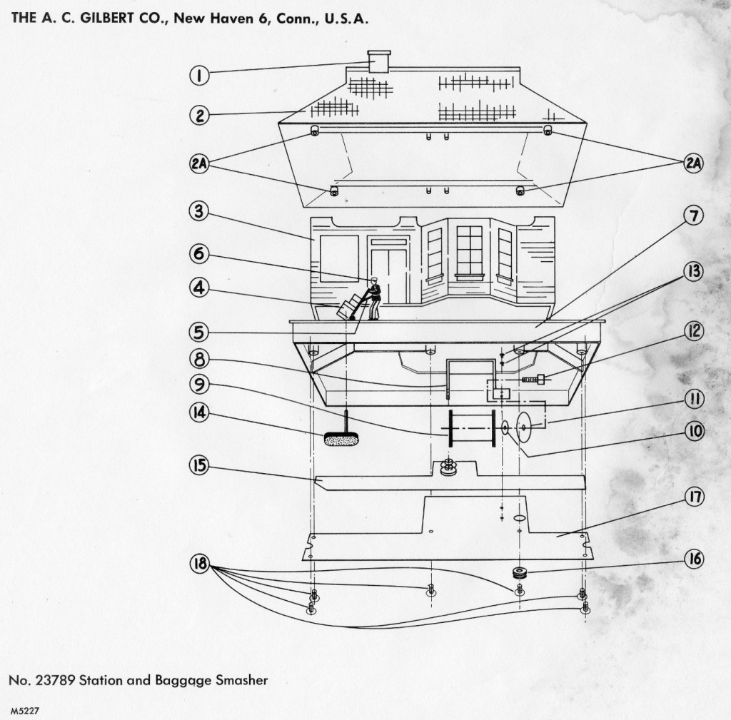 American    Flyer    Baggage Smasher 23789 Parts List      Diagram      TrainDR