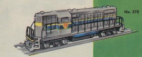 American Flyer No. 370 GP7 Road Switcher Catalog Image
