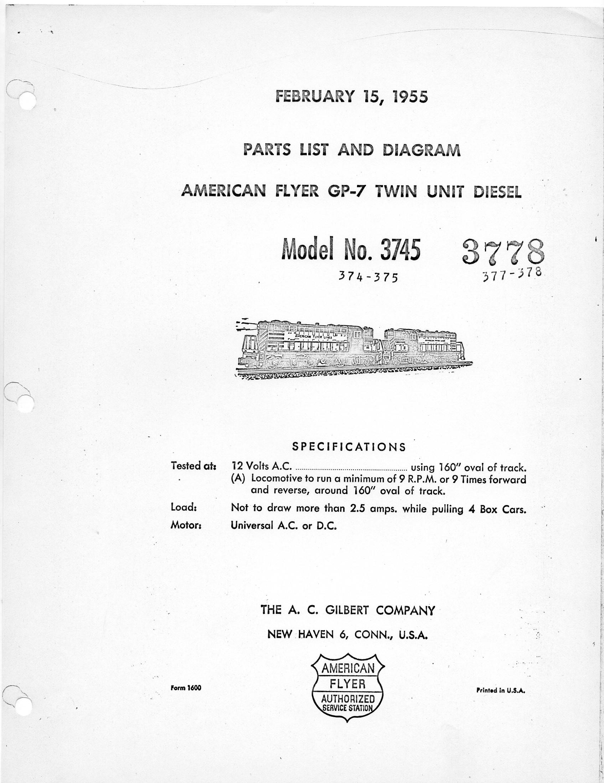 Diesel Loco White Manual The Shear Diagram V A 1000 Lb B Area In Load Array American Flyer Locomotive 3745 U0026 3778 Parts List Traindr Rh Com