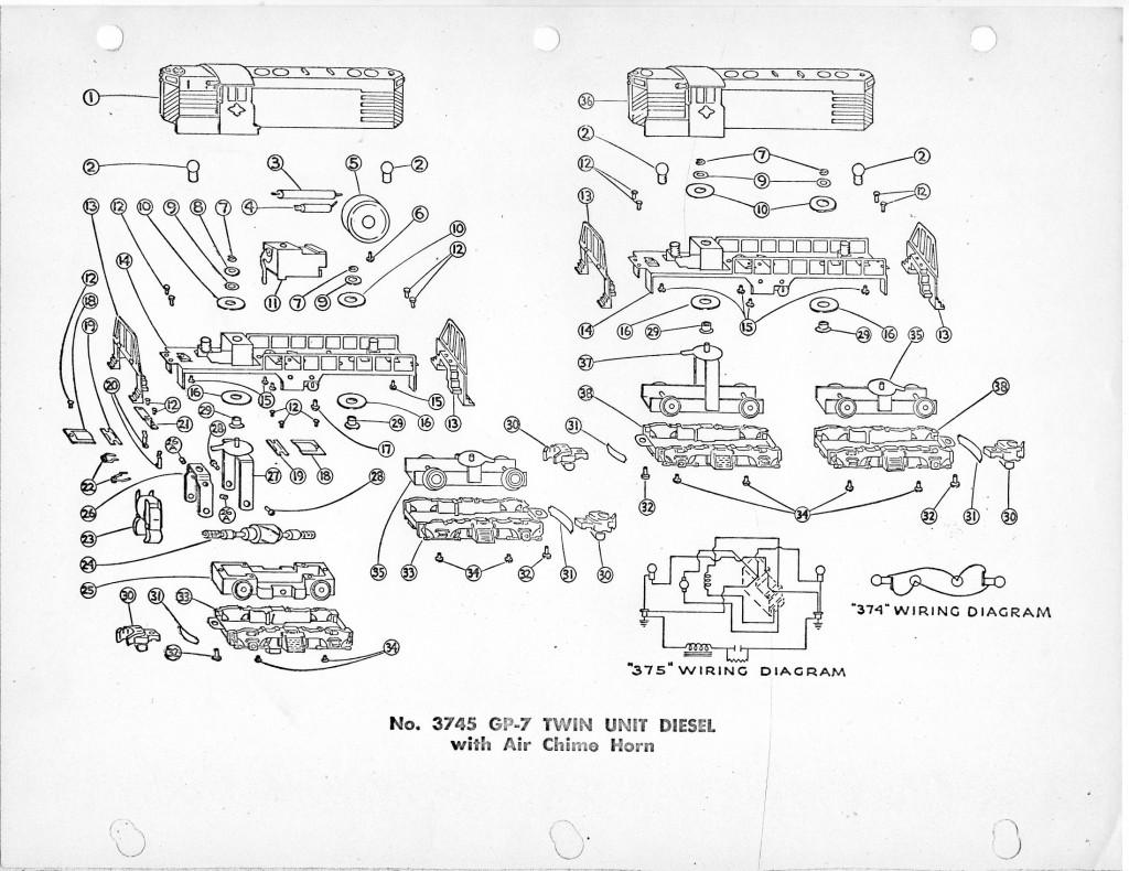 American Flyer Steam Locomotive Diagram Parts Block Wiring Diagrams 3745 3778 List Traindr Old Trains Catalogs