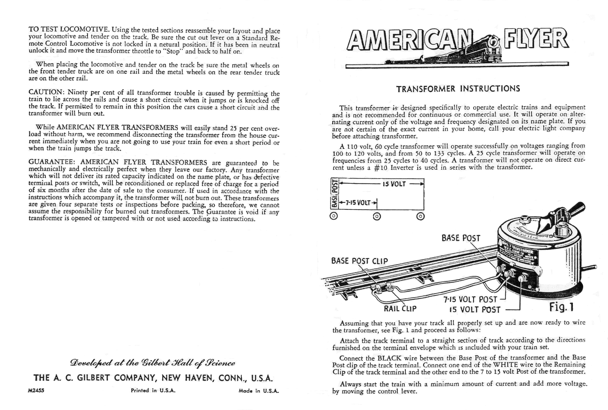 M2455 Transformer Instructions Lo Res 001 american flyer transformer instructions traindr  at n-0.co