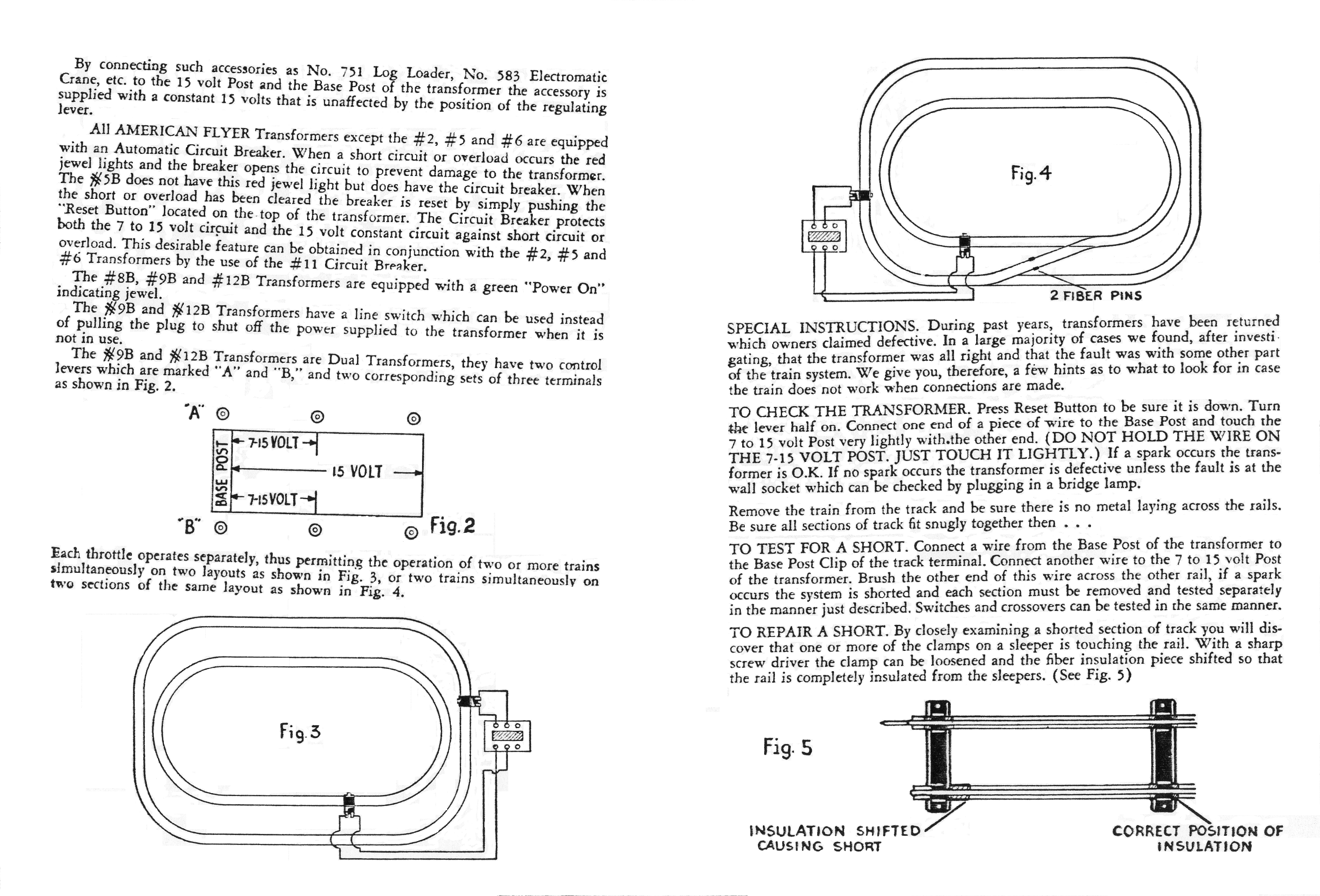 American Flyer Transformer Instructions - Page 2