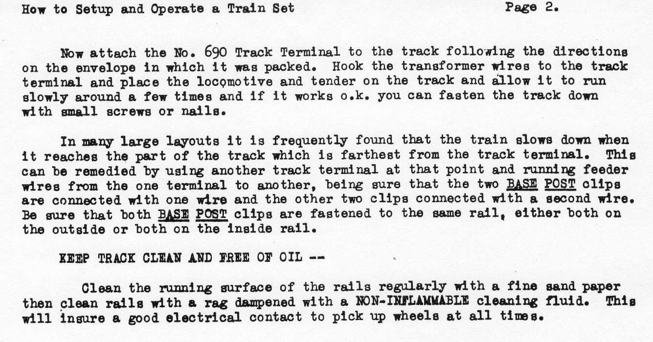 How to Set Up and Operate A Train Set - Page 2