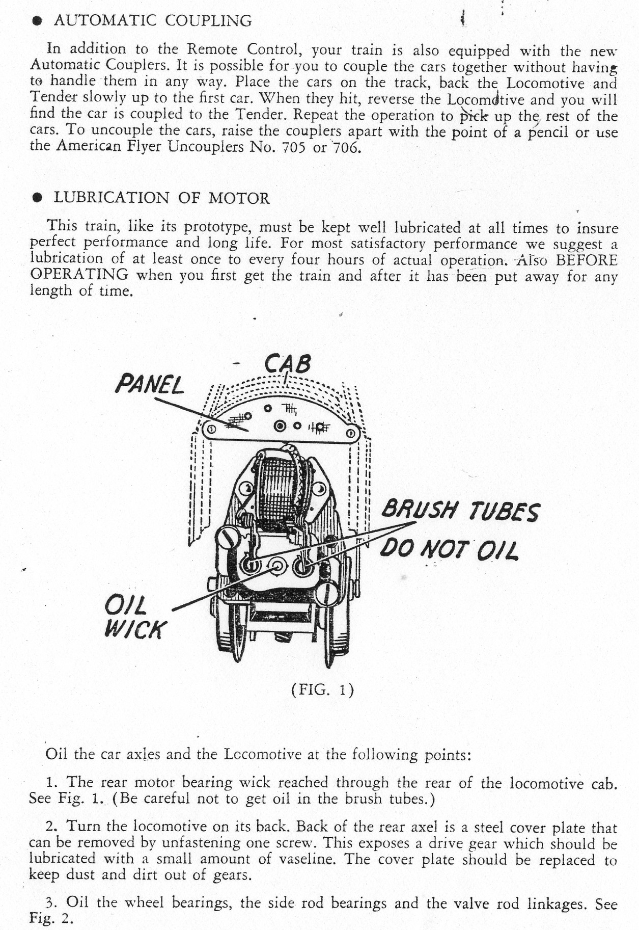 Operating Instructions For Worm Drive Locomotives- Page 2
