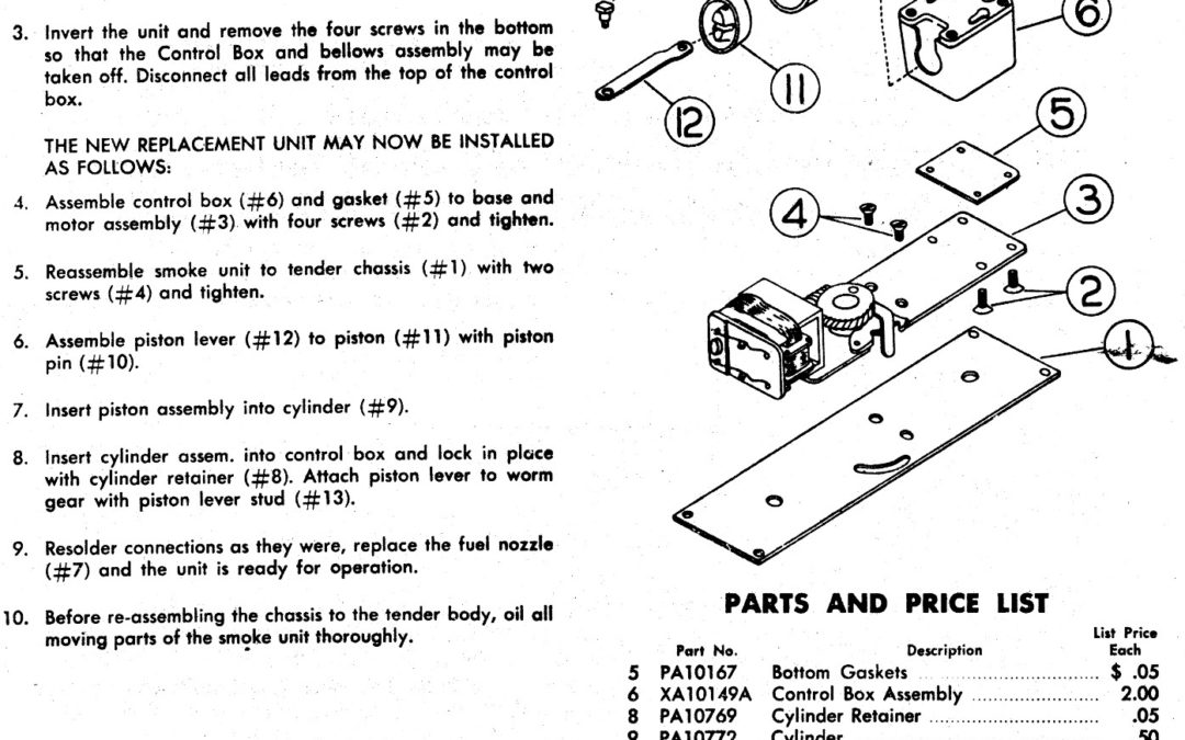 American Flyer Parts List Archives