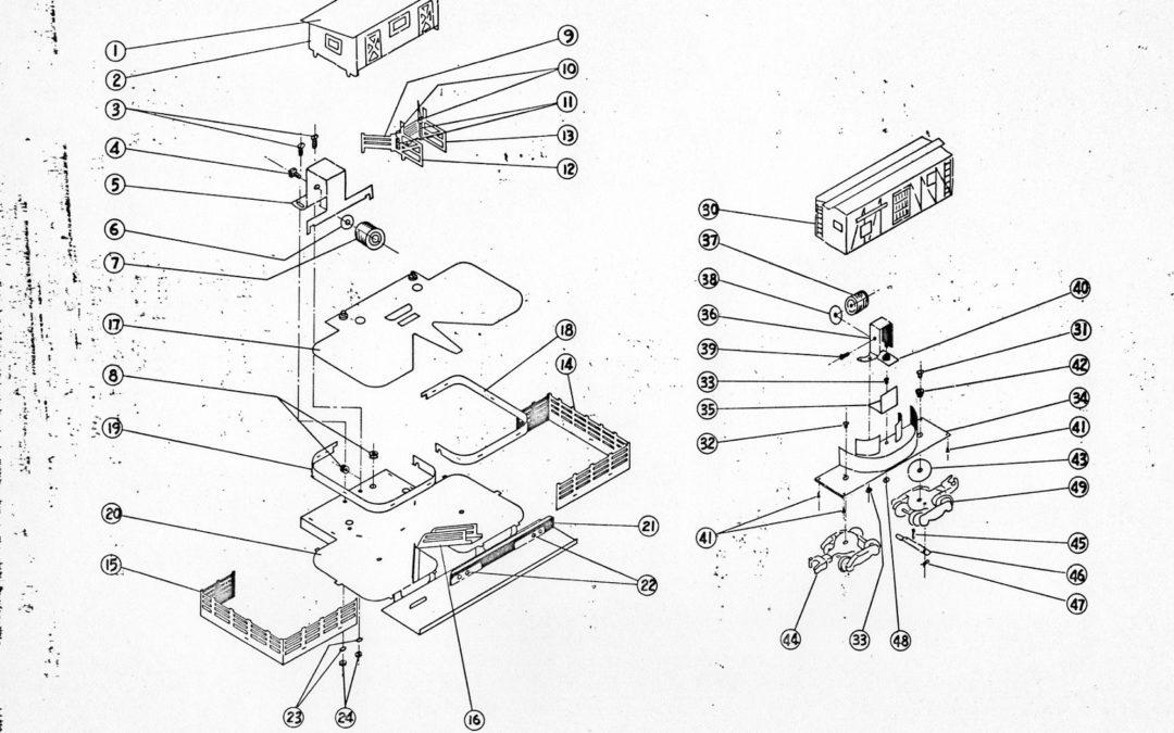 American Flyer Operating Stock Yard & Car 23771 Parts List & Diagram