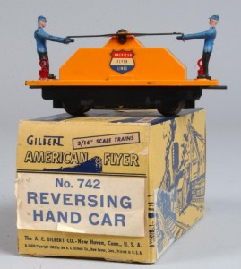 American Flyer Hand Car 742 With Box