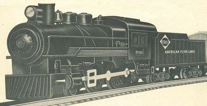 American Flyer Locomotive & Tender 21165 Catalog Image