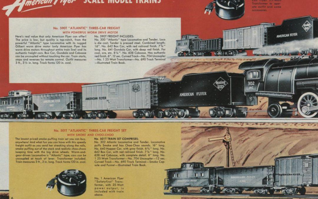 American Flyer Train Set 590T Atlantic Three Car Freight