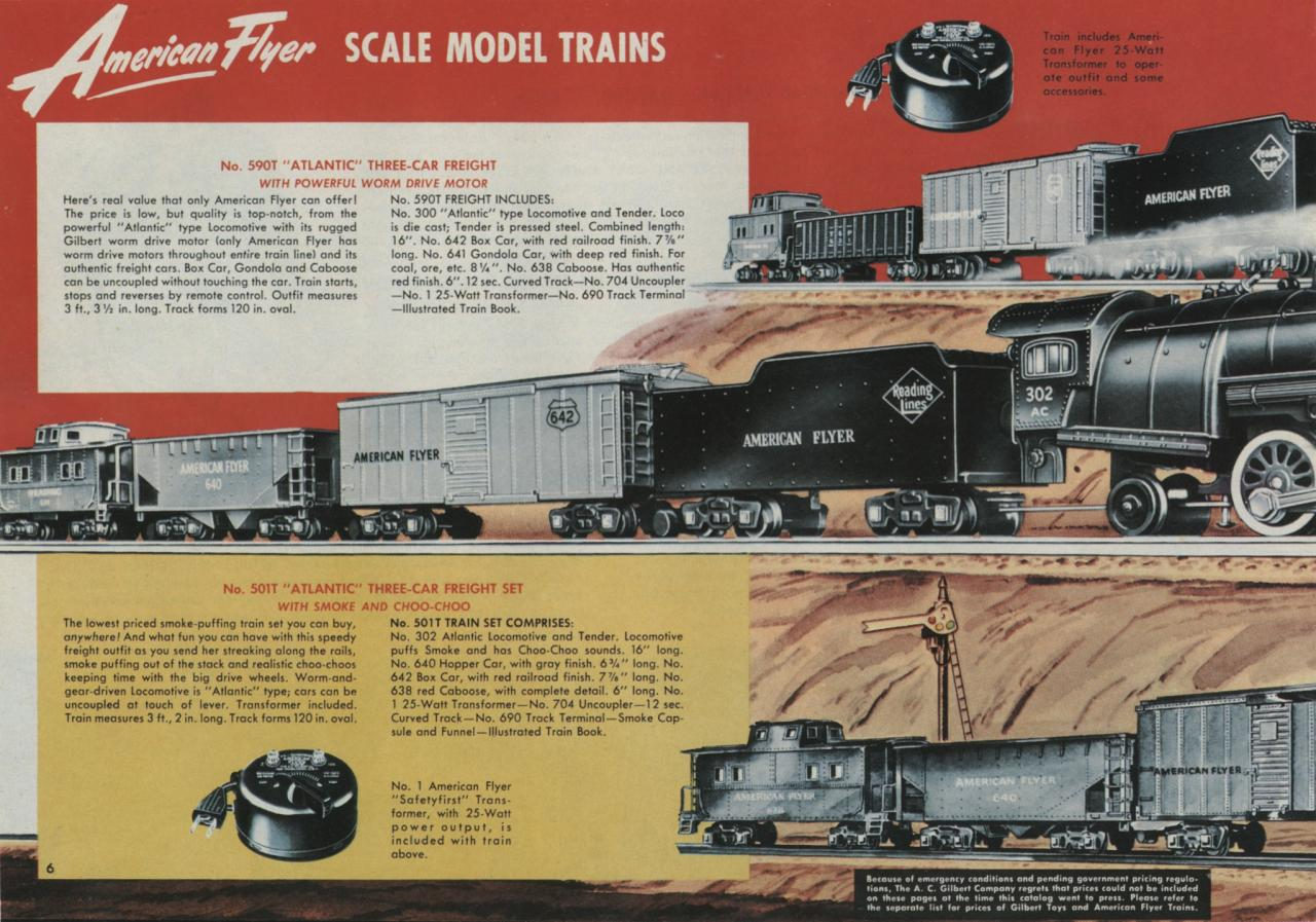 American Flyer Train Set 590T Catalog Image