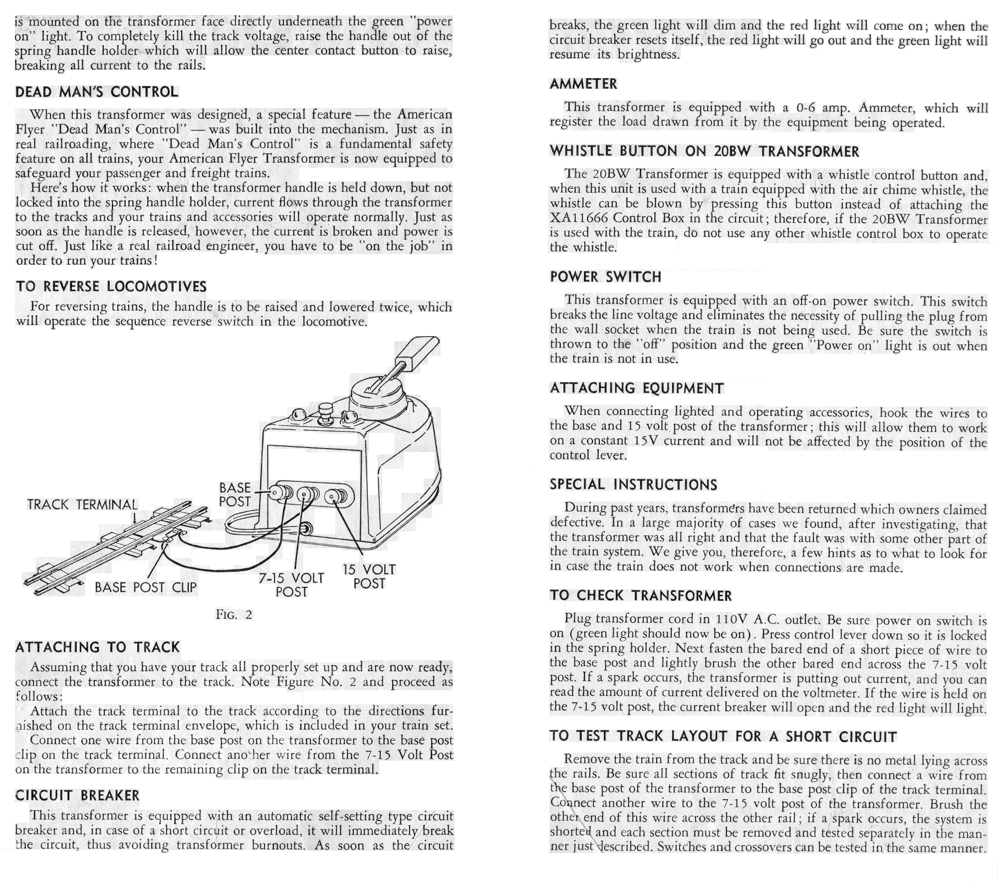 Instructions for No. 19B and 20 BW Transformers - Page 2