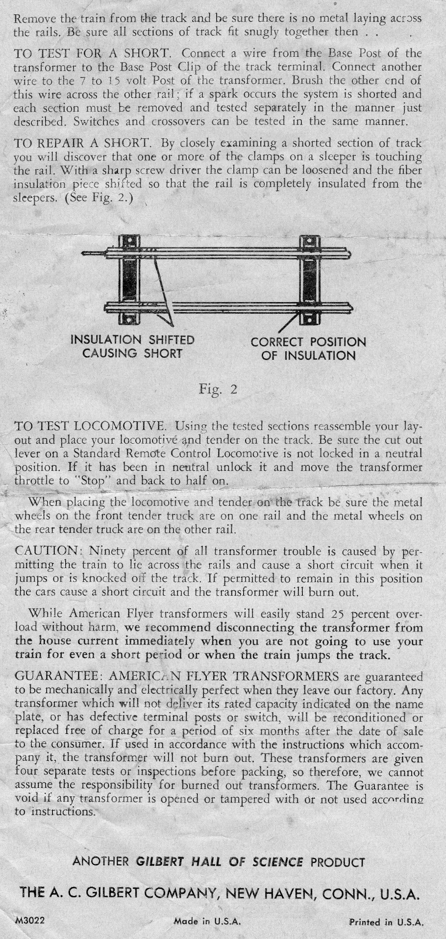 American Flyer No. 1½ - 45W Transformer Instructions - Page 2