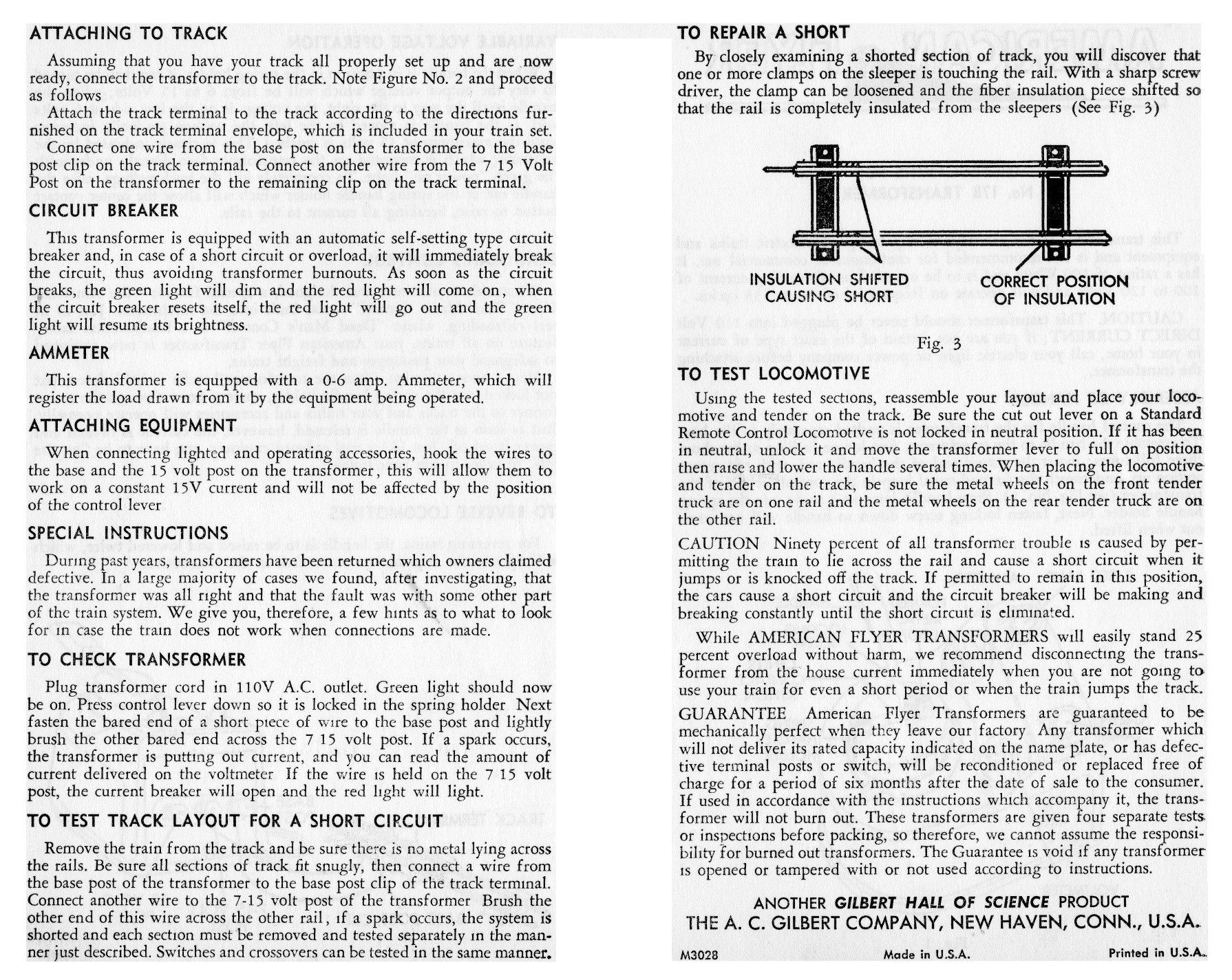 Instructions for No. 17B Transformer - Page 2
