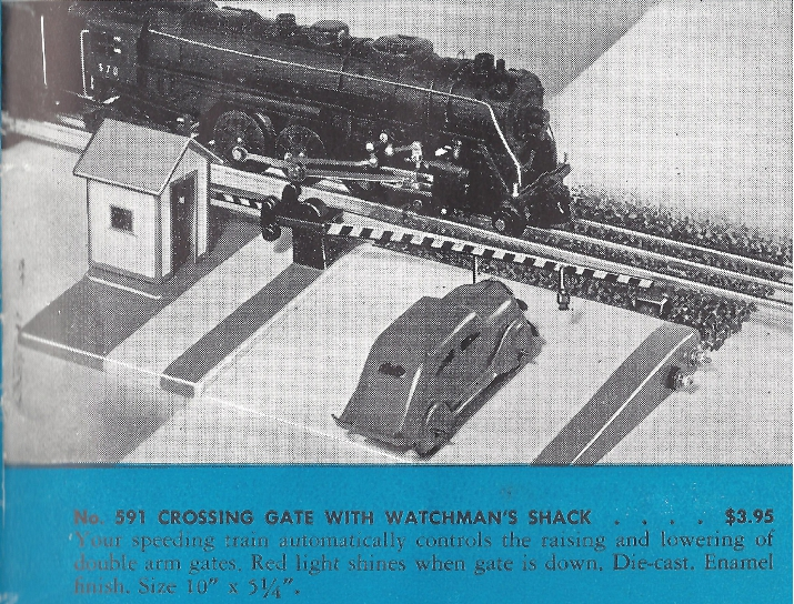 American Flyer Crossing Gate 591 Catalog Description