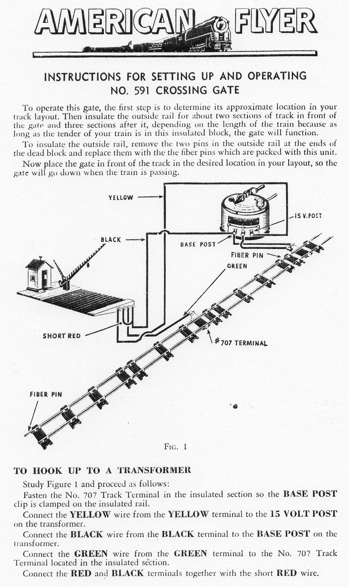 Instructions for Setting Up and Operating No. 591 Crossing Gate - Figure 1
