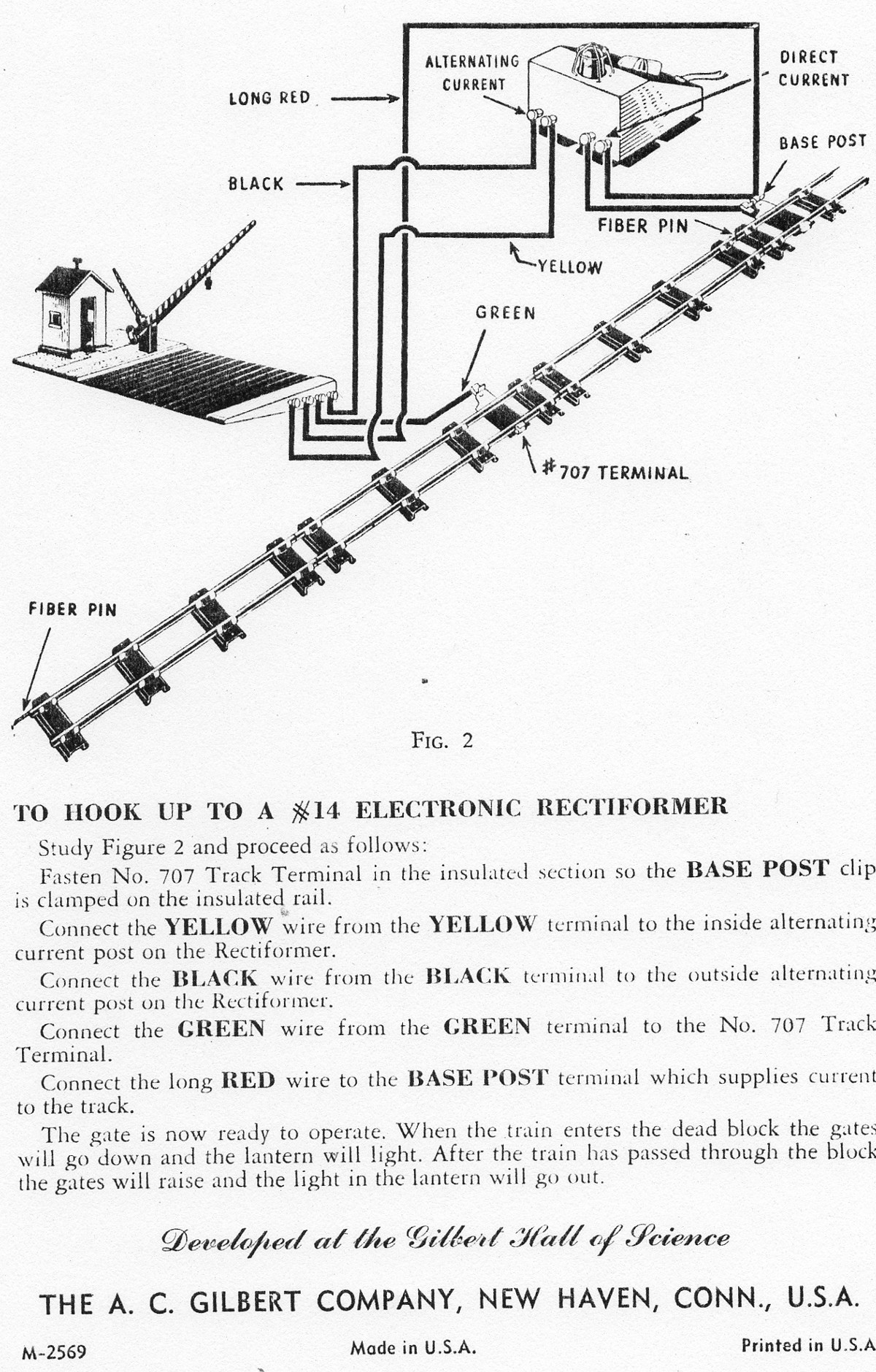 Instructions for Setting Up and Operating No. 591 Crossing Gate - Figure 2