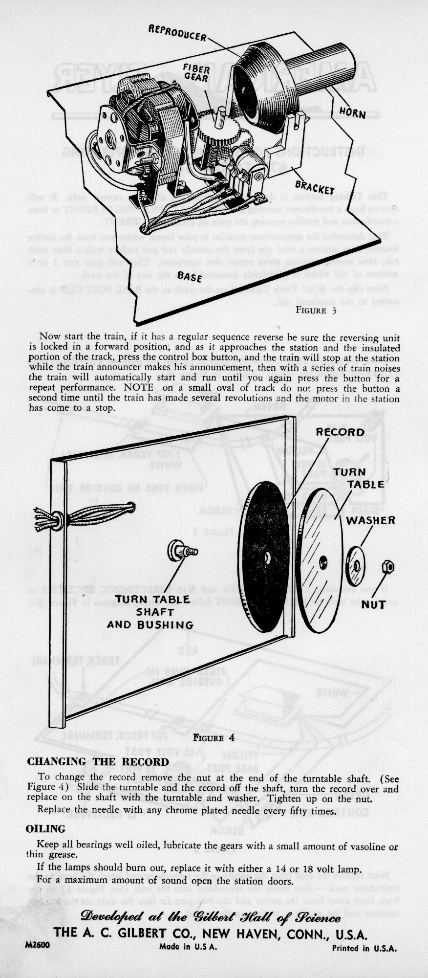 Instructions for Setting Up and Operating No. 755 Talking Station  - Page 2