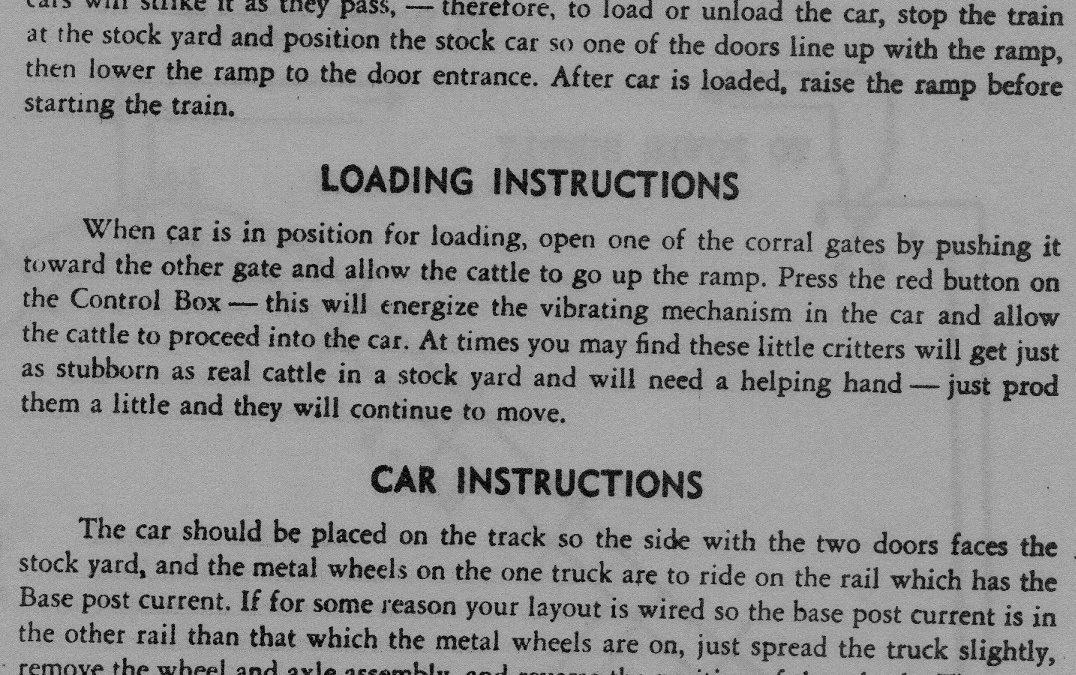 American Flyer Stock Yard & Car 771 Operating Instructions
