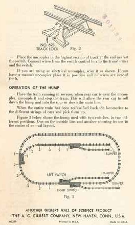 Instructions for No. 784 Railway Hump Set - Page 2