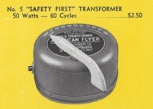 American Flyer No. 5 Safety First Transformer