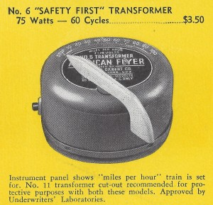 American Flyer No. 6 Safety First Transformer