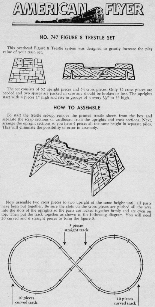 American Flyer Trestle Set 747 Instructions - Page 1
