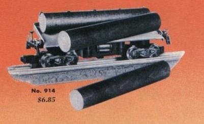 American Flyer Log Car 914 Catalog Image