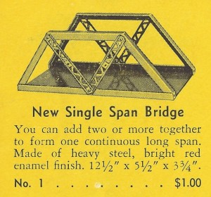 American Flyer Trestle Bridge No. 1