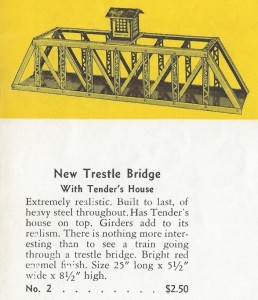 American Flyer Trestle Bridge With Tenders House No. 1