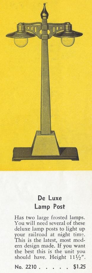 American Flyer De Luxe Lamp Post