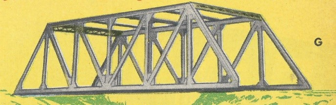 American Flyer Trestle Bridge 754 Catalog Image - 1950