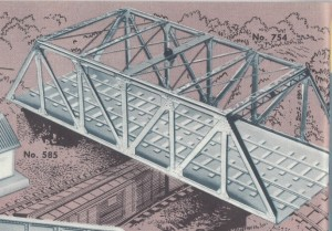 American Flyer Trestle Bridge 754 Catalog Image - 1951