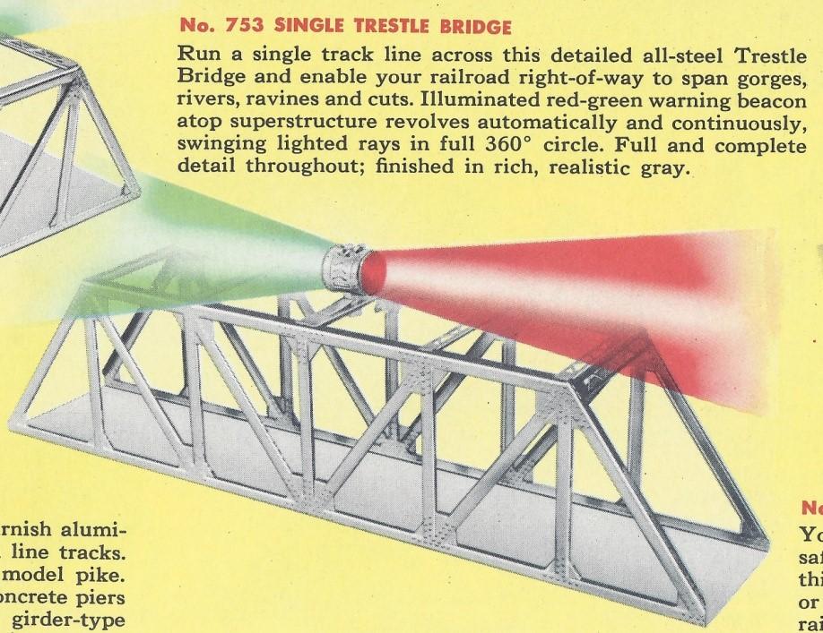 American Flyer Single Trestle Bridge No. 753