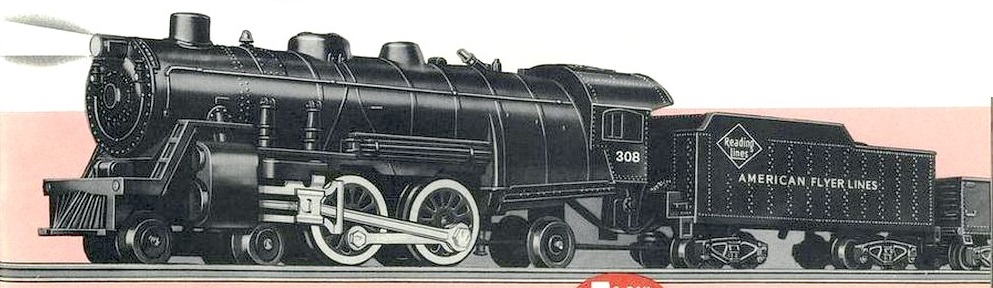 American Flyer Locomotive 308 Catalog Image