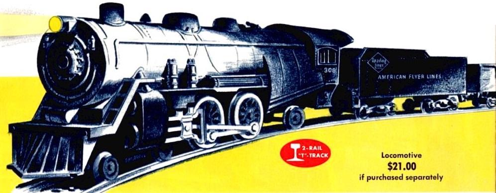 American Flyer Locomotive 308 Catalog Image