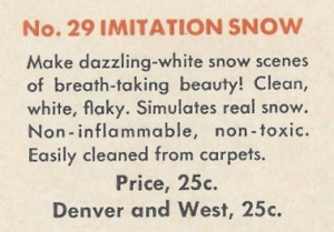 American Flyer Snow Description
