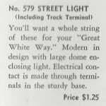 American Flyer Street Light 579