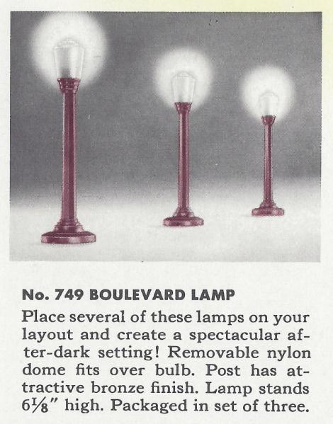 No. 749 Boulevard Lamp - 1952