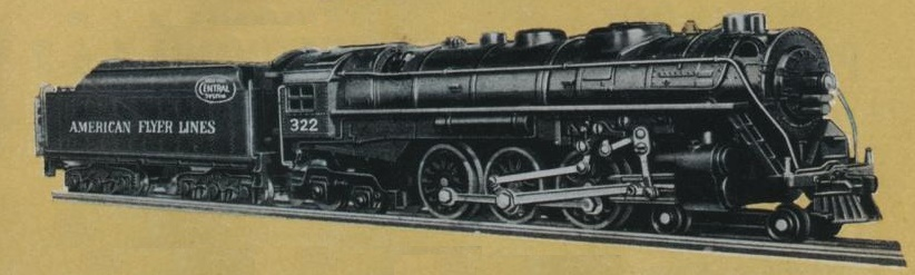 American Flyer Locomotive 322 Hudson