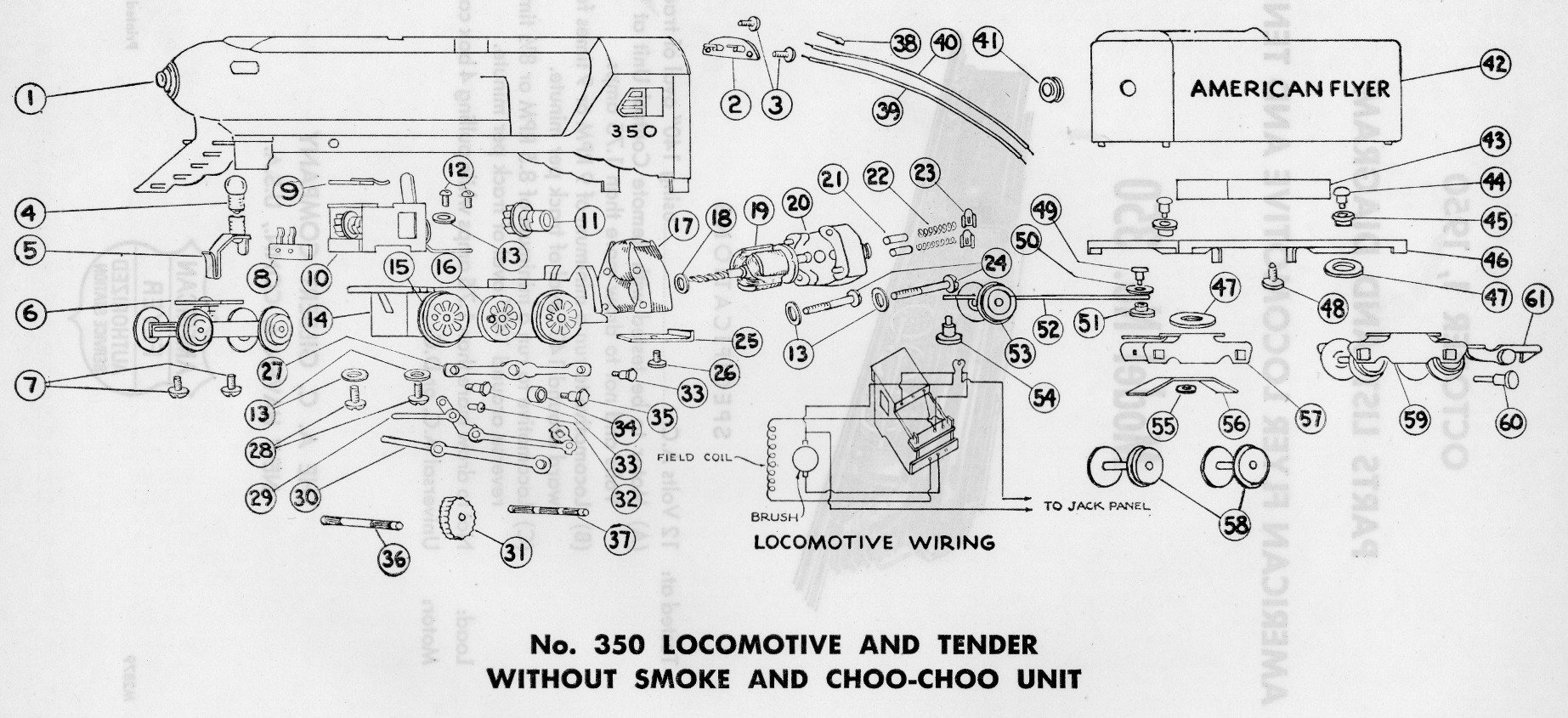 American Flyer List Lionel Train Wiring Diagrams Model 350 Parts And Diagram Traindr