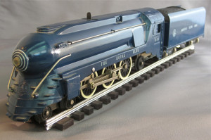 What was the first American Flyer Post War Royal Blue Train Set Produced?