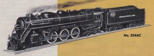 American Flyer Locomotive 324AC Catalog Image