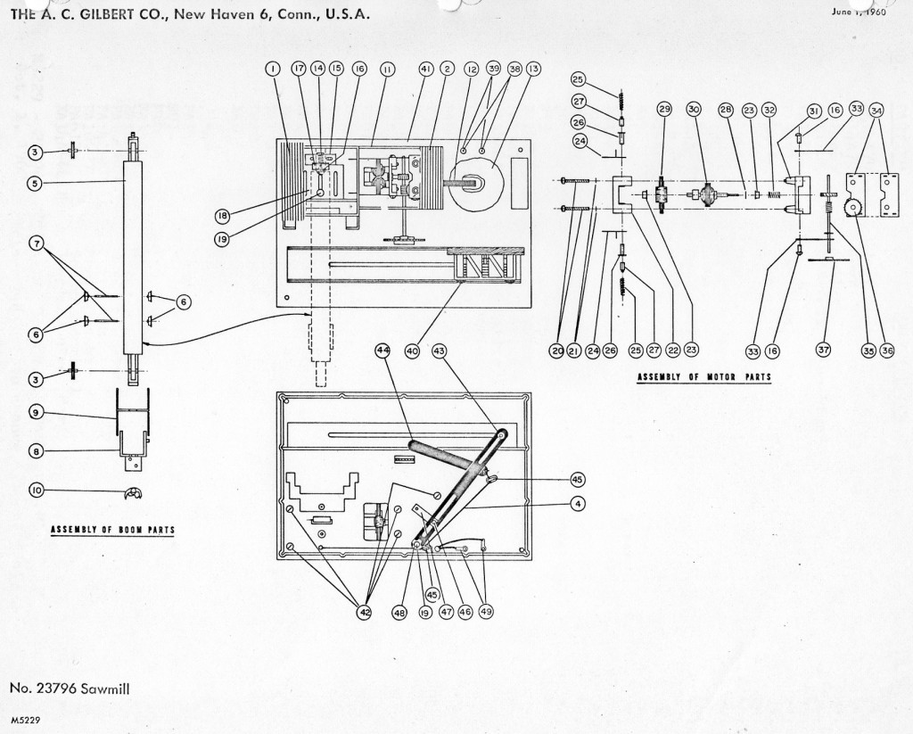 american flyer sawmill 23796 parts list  u0026 diagram