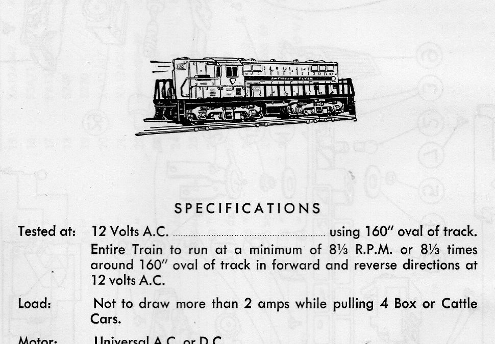 American Flyer Diesel Switcher 371 Parts List & Diagram