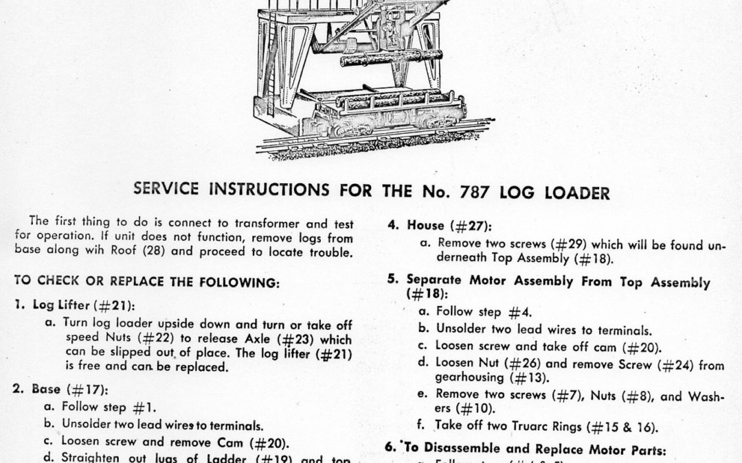 American Flyer Log Loader 787 Parts List & Diagram