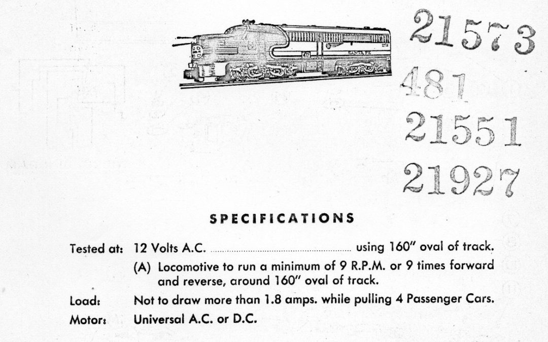 American Flyer Locomotive 472 Parts List & Diagram